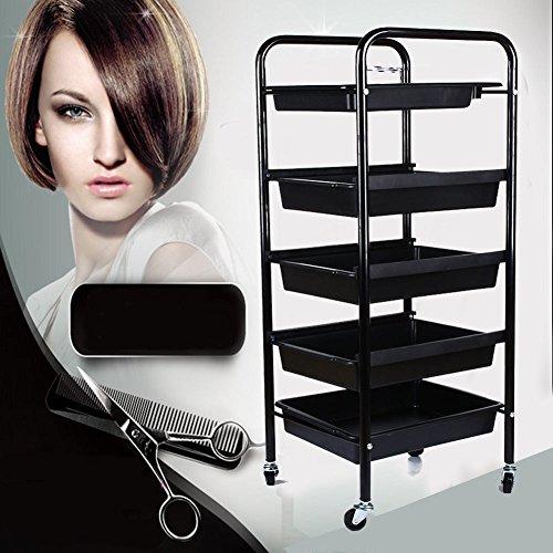 carrelli per parrucchiere cassettiporta oggetti barbiere bellezza spa capelli Trolley 5 cassetti carrello Strumento