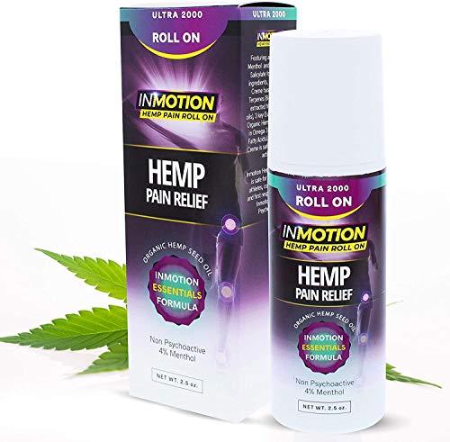 Inmotion Hemp Roll On for Pain - Premium Ultra Strength Fast Acting, Long Lasting, Odorless Hemp Oil...