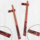 UNIFONE Essstäbchen, wiederverwendbar, chinesischer Stil, Holzdrache und Phönix, Essstäbchen, mit Halter und Tragetasche, chinesisches Geschenk-Set (2 Paar) - 8