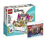 Collectix Lego Princess Set – Libro de aventuras con Ariel, Belle, Cenicienta y Tiana 43193 + Disney Princess Rapunzel's Lautern Boat 30391 (bolsa de plástico)
