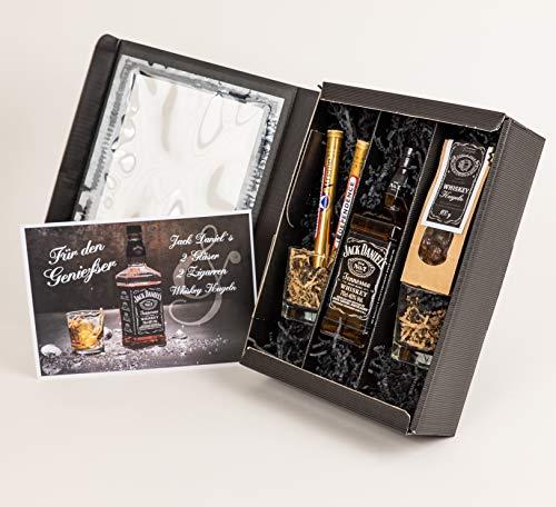 """Whisky Geschenkpaket """"Für den Genießer"""" für Herren - Jack Daniels Whisky Geschenkset für Männer"""