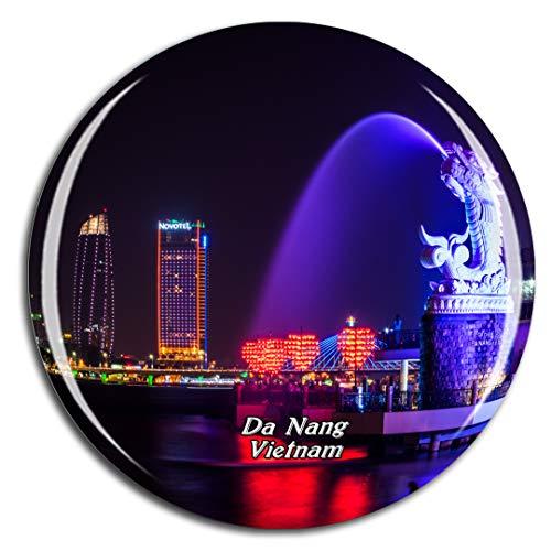 Weekino Vietnam da Nang Calamità da frigo 3D Cristallo Bicchiere Tourist City Viaggio Souvenir Collezione Regalo Forte Frigorifero Sticker