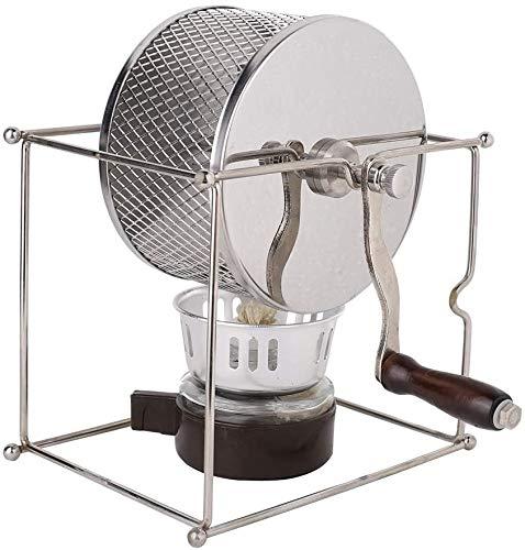 Xyfw Mini Manuelle Kaffeebohnen Röstmaschine DIY Edelstahlwalzen Mit Griff