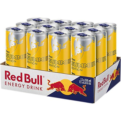 12 Dosen Red Bull Red Bull Yellow Edition Tropical Drink a 250ml inc. 3.00€ EINWEG Pfand