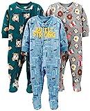 Simple Joys by Carter's pijama de forro polar suelto para bebés y niños pequeños, paquete de 3 ,Bulldogs/Breakfast/Tools ,5T