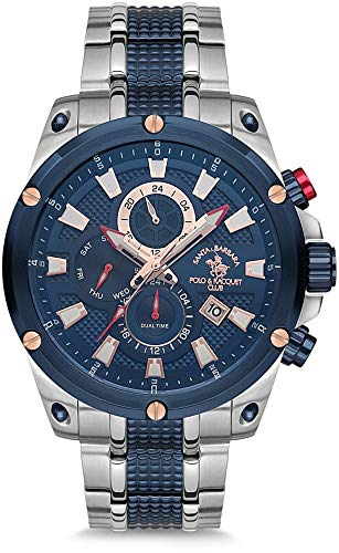 Santa Barbara Polo & Racquet Club SB.13.1007.5 - Reloj de Pulsera para Hombre, Color Plateado