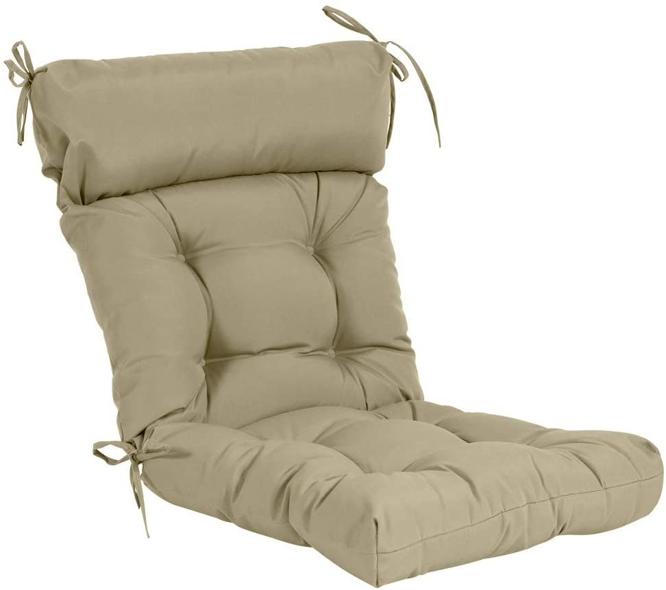 QILLOWAY Indoor/Outdoor High Back Chair Cushion ,Spring/Summer Seasonal Replacement Cushions.(Beige) : Patio, Lawn & Garden