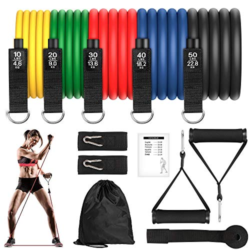 GRDE Bandas Elasticas Musculacion,Gomas Elasticas Fitness 100% Látex Natura con 5 Diferentes...