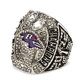 WSTYY Anillos Masculinos de Europa y América, Anillo de Campeonato de los Baltimore Ravens 2012 Anillos de réplica de Campeonato Tamaño 9-13,Without Box,9