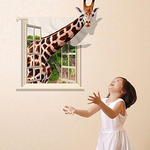 Great Tattoos 3D Wandaufkleber Wandtattoo Wandsticker Wanddeko Baby- & Kinderzimmer - Giraffe