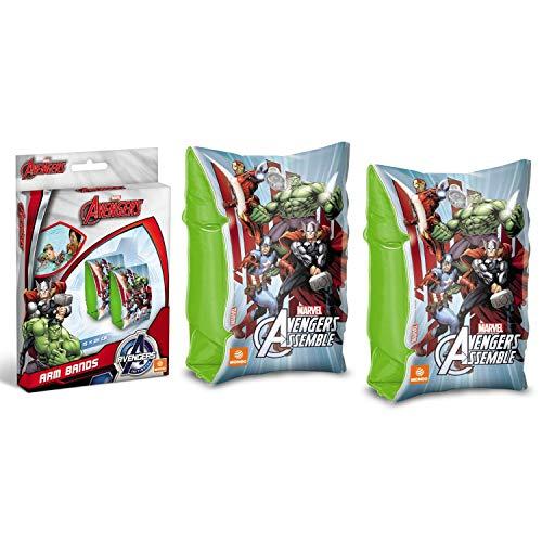 Mondo Toys - Avengers Arm Bands - Braccioli di Sicurezza per bambini - Materiale PVC - Adatti a bambini da 2 a 6 anni con Peso 6-20 kg - 16303