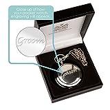 Personalizzato sposo orologio da tasca, speciale sposo orologio da tasca,...