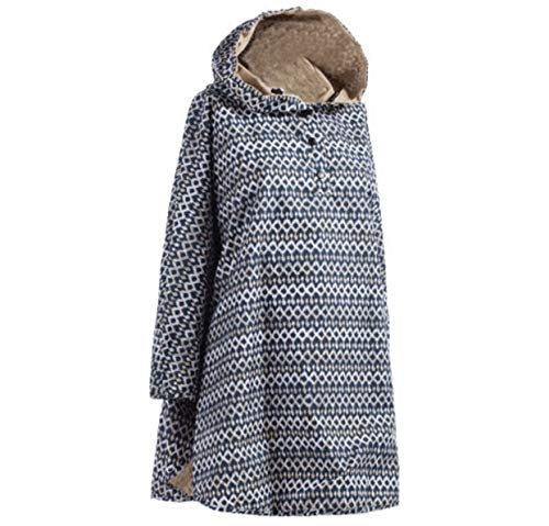 Totes Reversible Rain Poncho Two Looks in One, Womens Size, Style# 0RW2 G16, Indigo Ikat, One Size
