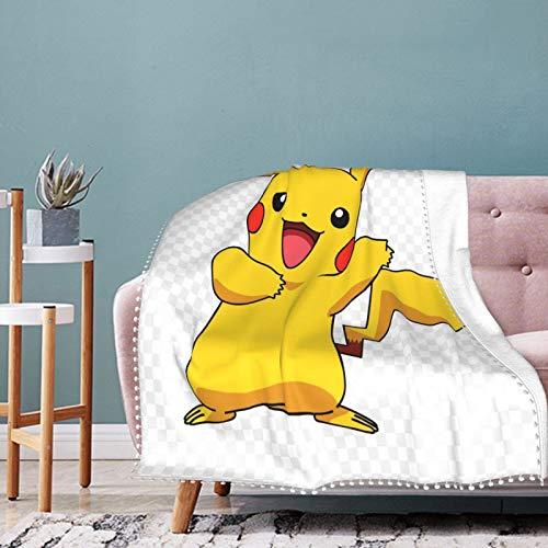 Manta de Pokémon suave y transpirable, manta para cochecito de bebé y cuna, manta perfecta para cama doble universal 50 x 40 pulgadas