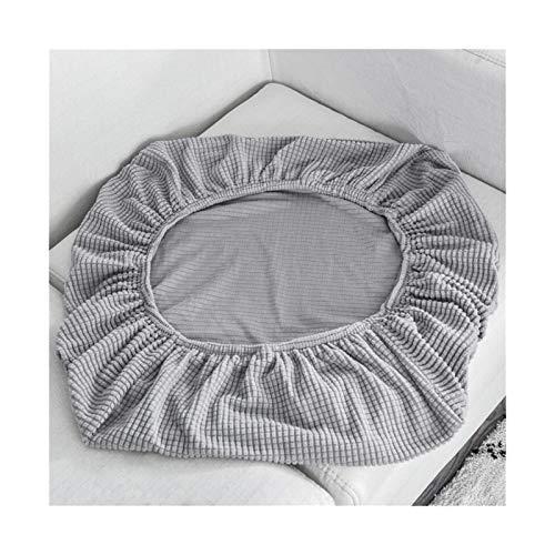 ZIJ Funda de cojín para sofá, funda de silla para mascotas, niños, forro polar, elástica, lavable, extraíble para asiento de 1/2/3/4 (color gris claro, tamaño: longitud del asiento 50 65 cm)