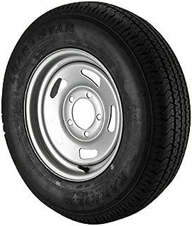 ST175/80R13 Loadstar Trailer Tire LRC on 5 Bolt Silver Blade Wheel