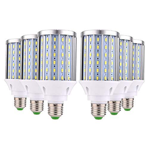 Lampadine a LED E27 35W Lampadina LED di mais 3000K Bianco Caldo 3450LM 108x5630SMD 350W Lampadine a Incandescenza Equivalenti, Non Dimmerabile, Edison Lampadine Mais (Bianca Freddo, 6 pezzi)