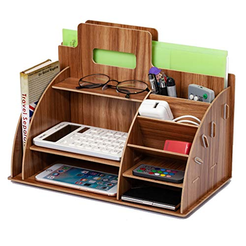 HONGLONG Aufbewahrungsbox aus Holz Schreibtisch, Büroholzschlitten, Aufbewahrungsbox mit Schubladen, Staukasten Bleistift