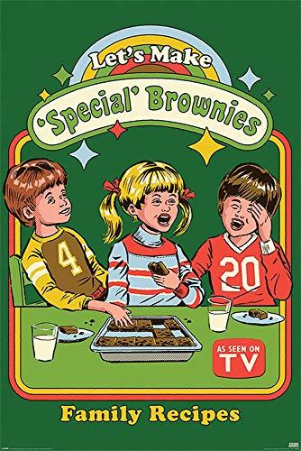 Pyramid International Póster Steven Rhodes, Lets Make Special Brownies, Multicolor, 61 x 91.5cm