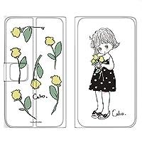 WHITENUTS Caho Rakuten Hand ケース 手帳型 薄型プリント手帳 チューリップD (ch-034) TC-C1440821/ML