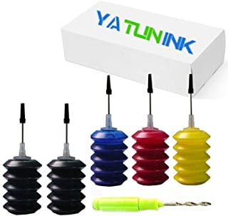 YATUNINK Refill Ink Refill Kit 30ml Replacement for Canon PG-245XL Cl-246XL Refill Ink Kit for PIXMA MG2520 MG2920 MG2922 MG2924 MG2420 MG2522 MG2525 MG3020 MG2555 MX490 MX492 Printer (2BK+1C+1M +1Y)