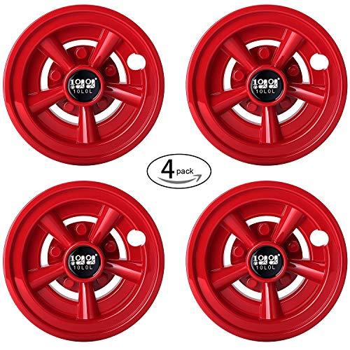 "8"" Red Wheel Covers / Hub Caps"