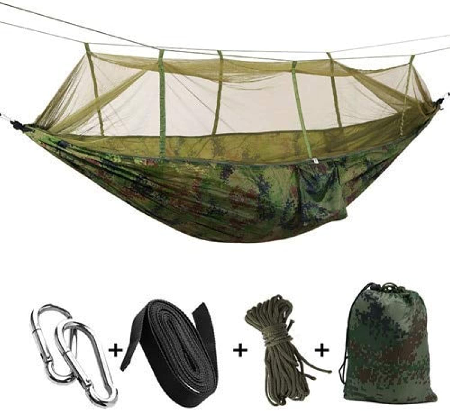 Drop Shipping Portable Mosquito Net Hammock Tent with Adjustable Straps and Carabiners Large Stocking 21 colors in Stock   Camouflage