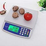 ZCXBHD 30kg / 1g Digital Cocina Peso Escamas, LCD Precisión Electrónico Precio Informática Comercial Tienda Escala Ingredientes Multifuncional Bascula Frutera (Capacity : 10kg-1g)