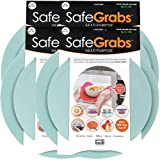 Safe Grabs: Multi-Purpose Silicone Original Microwave Mat as Seen on Shark Tank | Splatter Guard, Trivet, Hot Pad, Pot Holder, Minimize Mess (BPA Free, Heat Resistant, Dishwasher Safe) Mist 4-pack