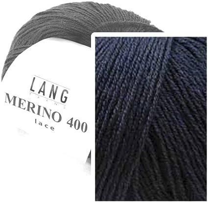 anthracite m/élange 070 Lang Yarns Merino 400 Lace