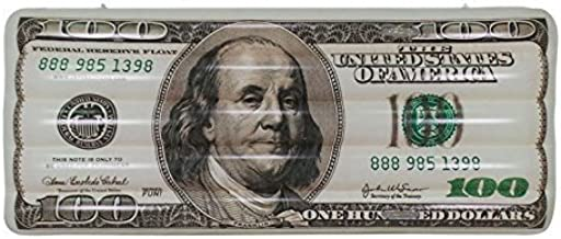 Jet Creations Inflatable $100 Hundred Dollar Bill Pool Glow in The Dark floatie ridable Blow up Summer Beach Swimming Pool Party Lounge raft Decorations Toys Kids Adults 72 inch FUN-USD100G