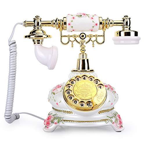 Teléfono Giratorio, teléfono Antiguo Vintage Retro sin Necesidad de Fuente de alimentación Externa Teléfono de Oficina en casa de Estilo rústico para Escritorio, Sala de Estar, Dormitorio, Hotel