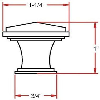 Design House 203984 Park Avenue Cabinet Knob, Oil Rubbed Bronze, Single