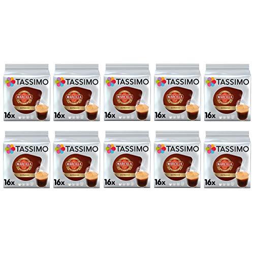 TASSIMO Marcilla Espresso Café es Cápsulas - Paquete de 10 (160 bebidas)