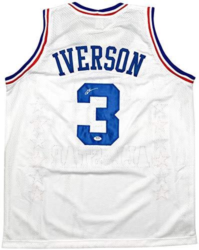 Allen Iverson autographed signed jersey NBA Philadelphia 76ers PSA COA