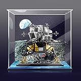icuanuty Vitrina Acrílica para Lego 10266 NASA Apollo 11 Lunar Lander, Funda Protectora A Prueba De Polvo Compatible con Lego 10266-3 Mm (Modelo Lego No Incluido)