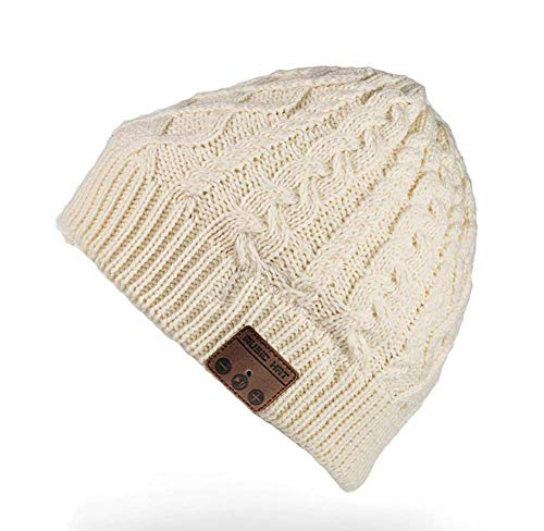 Geschenke für Männer Frauen Bluetooth Mütze -Personalisierte Geschenke Weihnachten Unisex Winter Strickmütze mit Bluetooth 5.0, Bluetooth Mütze für Winter Outdoor-Sport, Skifahren, Laufen