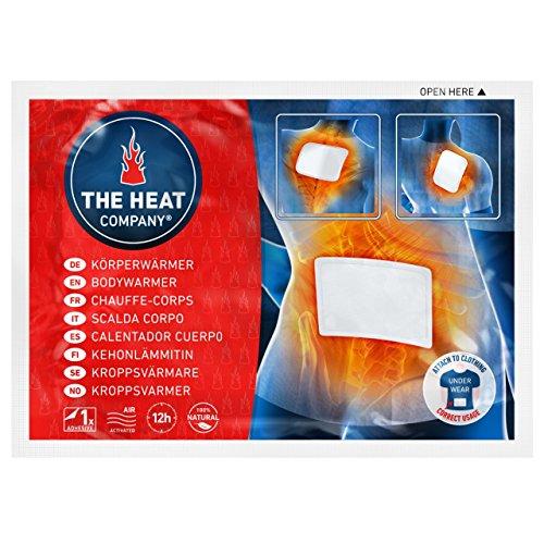 THE HEAT COMPANY Bodywärmer - 10 Stück - EXTRA WARM - klebend - Körperwärmer - Rückenwärmer - 12 Stunden wohlige Wärme - sofort einsatzbereit - luftaktiviert - rein natürlich