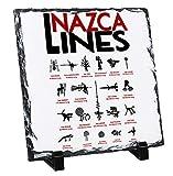 Teesquare1st Nazca Lines - Rock Slate Photo Gift, Foto en Piedra Pizarar Rock Photos Imagen Cuadro Cuadrado
