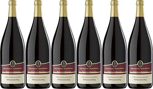 Heuchelberg Weingärtner Schwaigerner Grafenberg Schwarzriesling Qualitätswein halbtrocken (6 x 1,0L)
