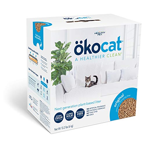 ökocat Original Low-Dust Natural Wood Clumping Cat Litter with Odor Control, 13.2 lbs.