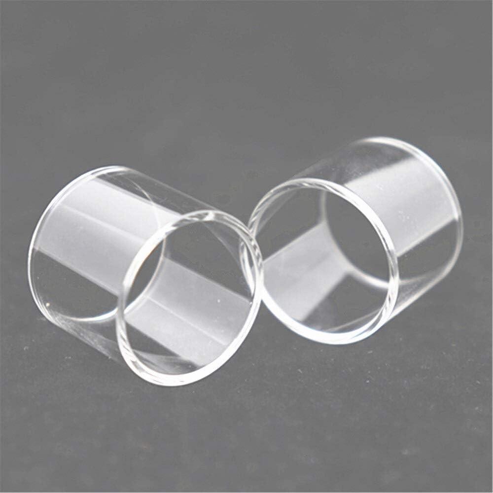 2 Piezas de reemplazo de Tubo de Vidrio en Forma for Wismec Elabo Sub Ohm Predator Kit Elabo SW Mini Tanque de Cristal (Color : Fit for Predator Kit 5ml, tamaño : 2pcs)