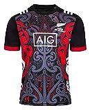 Beautyup Equipo Nueva Zelanda, Copa del Mundo, Camisetas para Hombre, Maori All Blacks, Camiseta de Entrenamiento de Rugby, Camiseta Deportiva (Color : C, Size : XL)