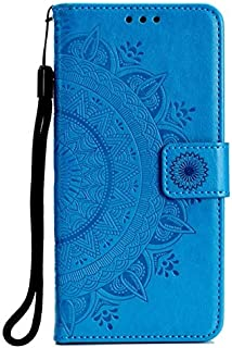 SIZOO - For for Samsung Galaxy J4 Case Embossing Wallet Flip PU Leather Phone Bag Cover Soft Silicon TPU Case for for Sams...