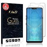 J&D Compatible pour 2-Pack Protection écran LG G7 ThinQ, Protection écran LG G7, [Verre Trempé]...