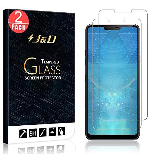 J&D Compatibile per 2 Confezioni LG G7 ThinQ Pellicola Protettiva, LG G7 Pellicola Protettiva, [Vetro Temperato] [Non Piena Copertura] HD Chiaro Balistico Vetro Protezione Schermo per LG G7 ThinQ