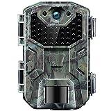 Cámara de Caza Nocturna 20MP 1080P con Detección de Acción Camara Fototrampeo Caza con 38pcs LED Negro Infrarrojo y Impermeable IP66 para Vigilancia de la Fauna