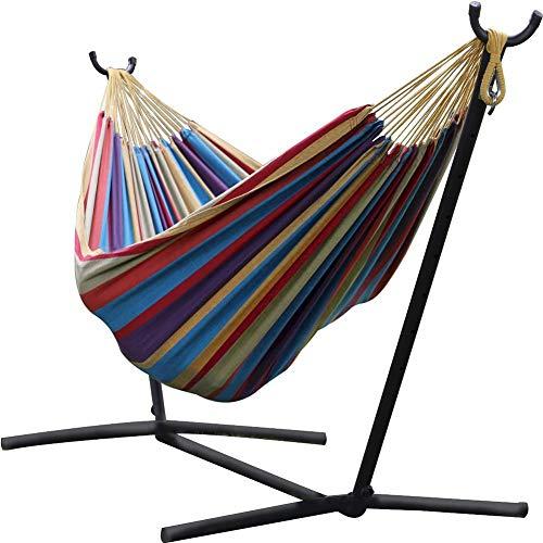 ZYX Outdoor Hammock, Convenient Thickened Iron Hammock Bracket 260107cm, Home Indoor Outdoor Swing Support