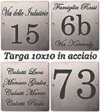 Mosaici Guizzo Targhetta in Acciaio inciso_10x10 cm
