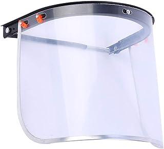ULTECHNOVO Visiera Protettiva Trasparente Antispruzzo Copri-Viso Goccioline di Protezione Deflettore Visiera Parasole per Bacinella per Ciclismo Medico Allaperto